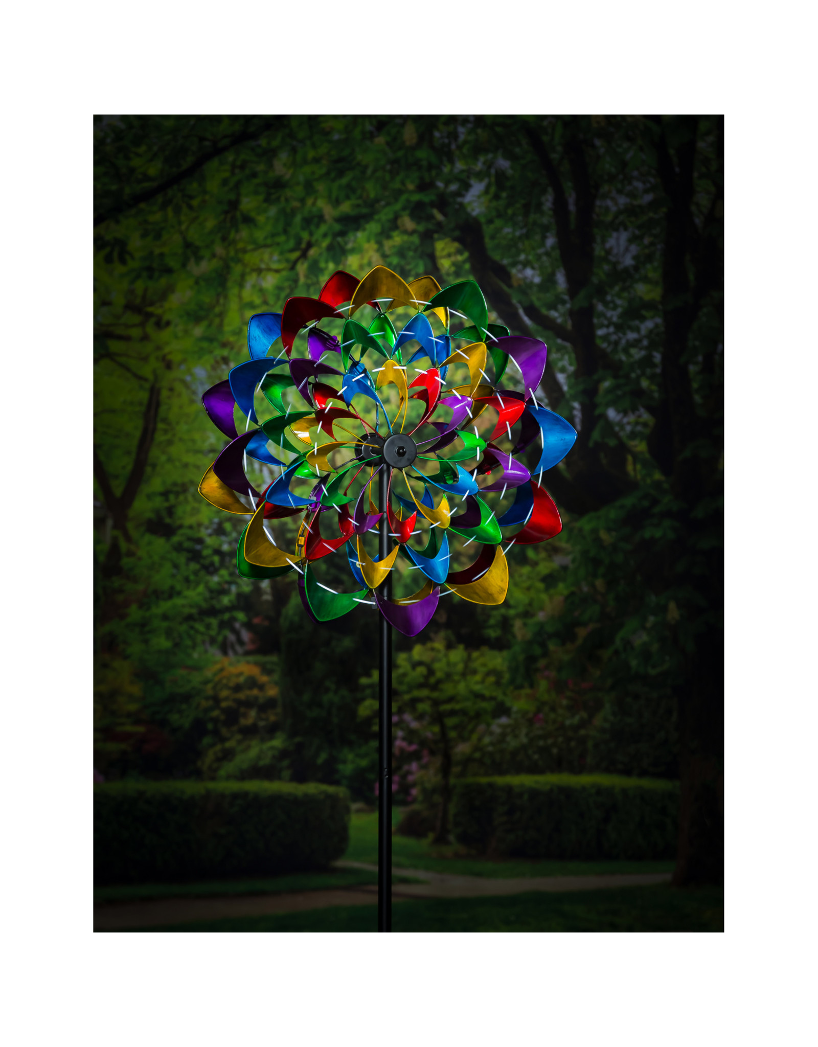 Evergreen COLORFUL WIND POWERED LIGHTED WIND SPINNER