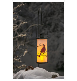 Evergreen FROSTED CARDINAL LANTERN