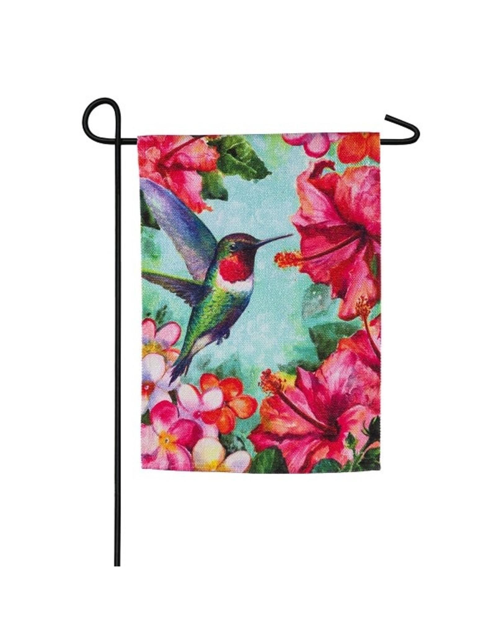 Evergreen HUMMINGBIRD HIBISCUS FLAG