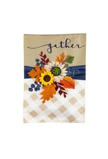 Evergreen FALL FLORAL GATHER FLAG