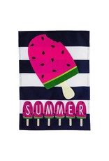 Evergreen SUMMER MELONSICLE GARDEN FLAG