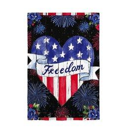 Evergreen AMERICAN FREEDOM GARDEN FLAG