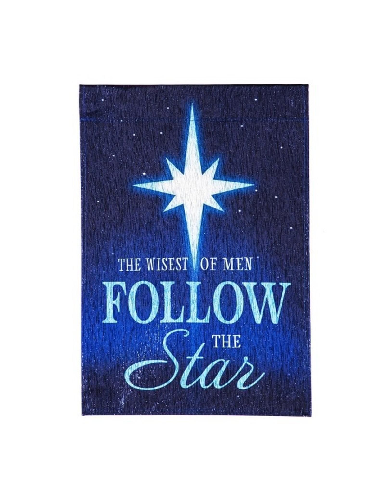 Evergreen FOLLOW THE STAR GARDEN FLAG