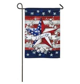 Evergreen LIBERTY STAR GARDEN FLAG