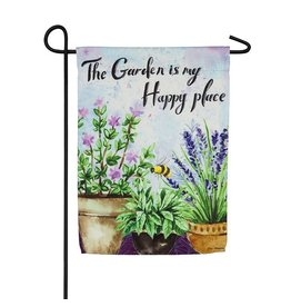 Evergreen HAPPY PLACE GARDEN FLAG