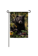 Evergreen BLACK BEAR GARDEN FLAG