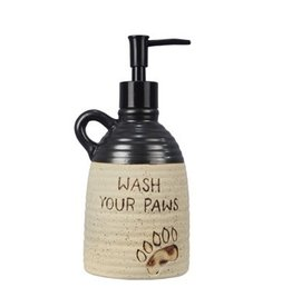 Youngs CERAMIC BEAR PAW SOAP DISPENSER