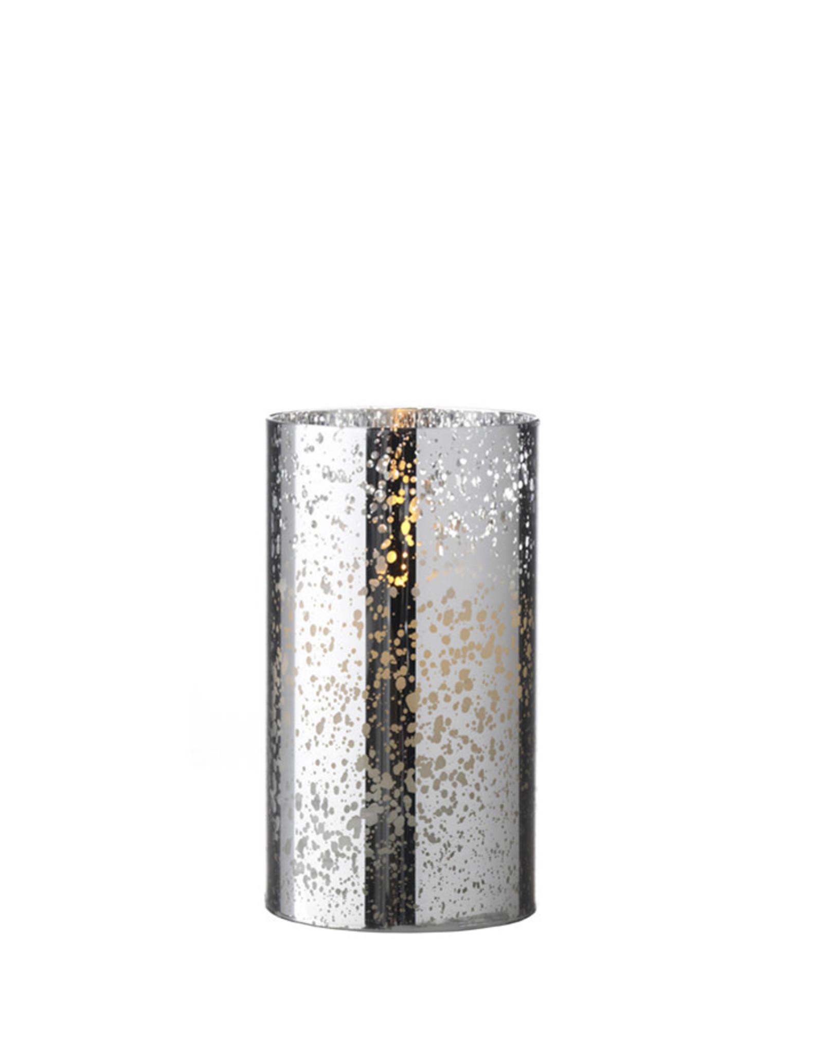 """Raz Imports MERCURY GLASS MOVING FLAME 6"""" CANDLE"""
