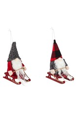 Evergreen GNOME ON SLED ORNAMENT 2A