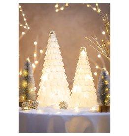 Evergreen WHITE LED GLITTER TREE SMALL