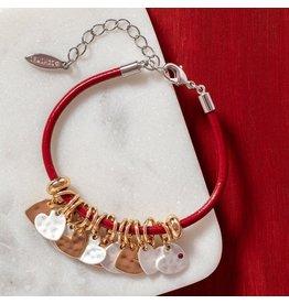 Demdaco RED HEART CHARM BRACELET