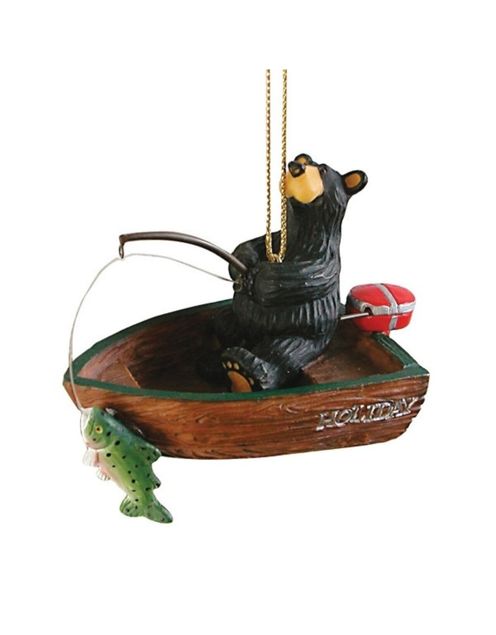 Demdaco FISHERBEAR BOAT ORNAMENT