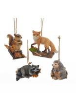 Kurt Adler ANIMALS ON LOG ORNAMENT