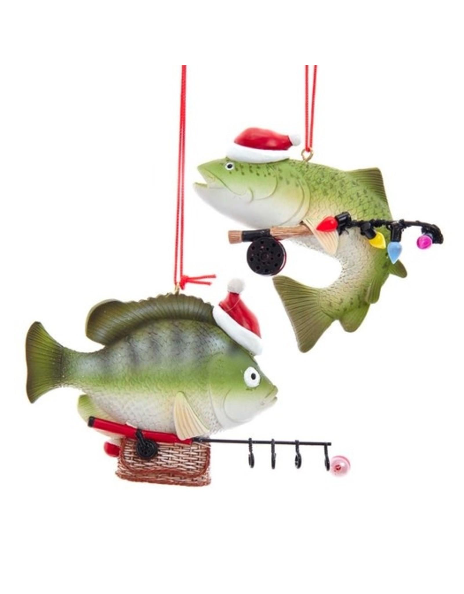 Kurt Adler FISH FISHING ORNAMENT