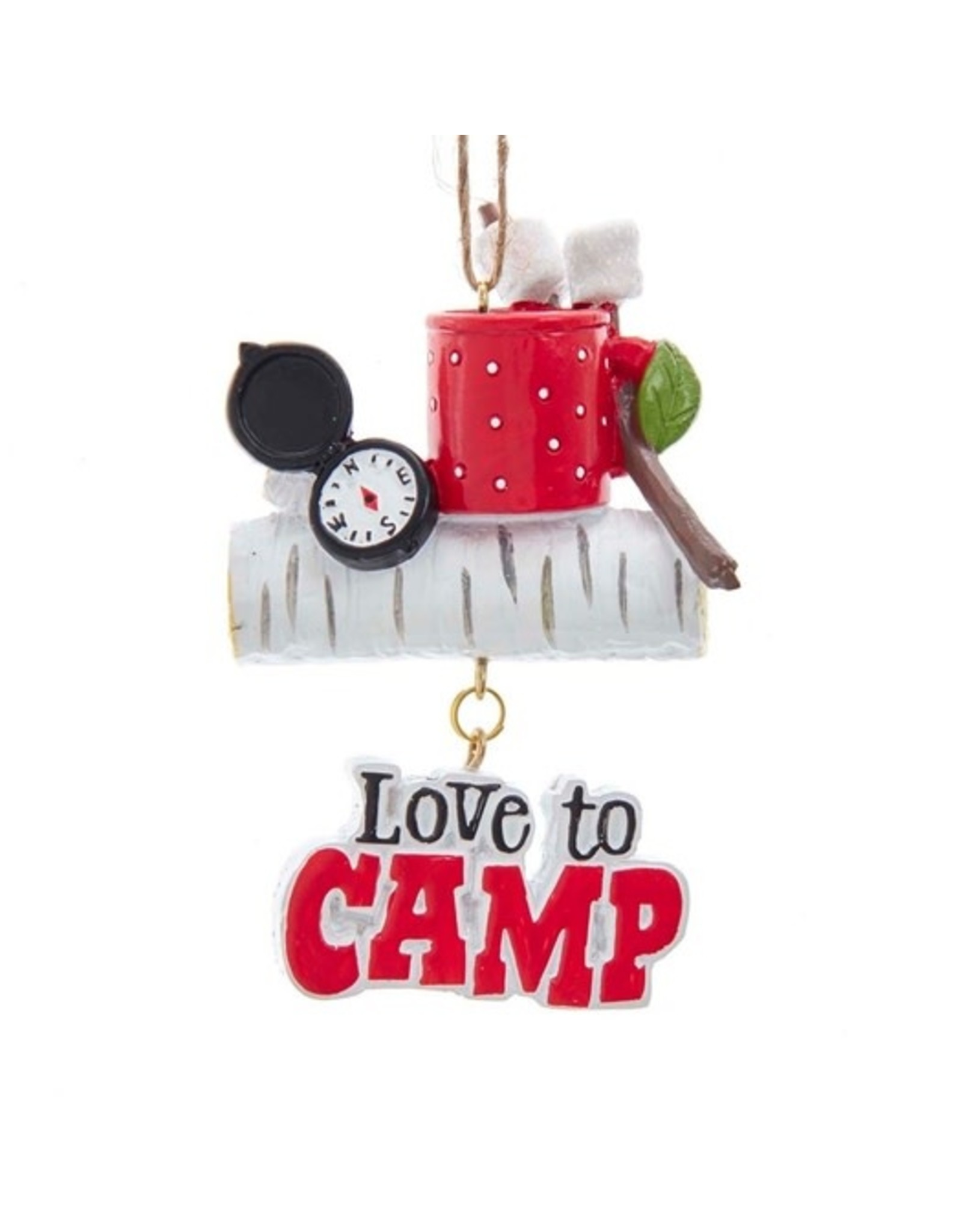 Kurt Adler LOVE TO CAMP ORNAMENT