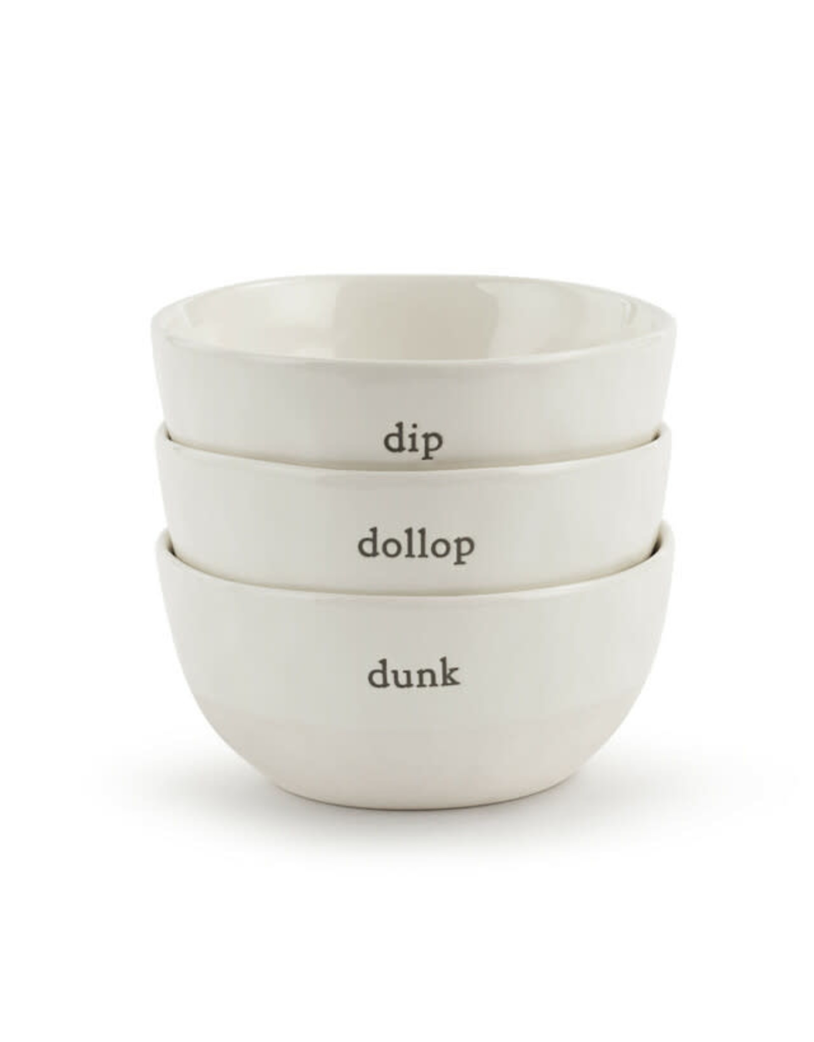 Demdaco DOLLOP DIPPING BOWL SET/3