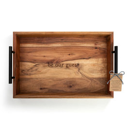Demdaco BE OUR GUEST WOOD SERVING TRAY