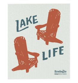Now Designs SWEDISH SPONGE CLOTH LIFE AT THE LAKE