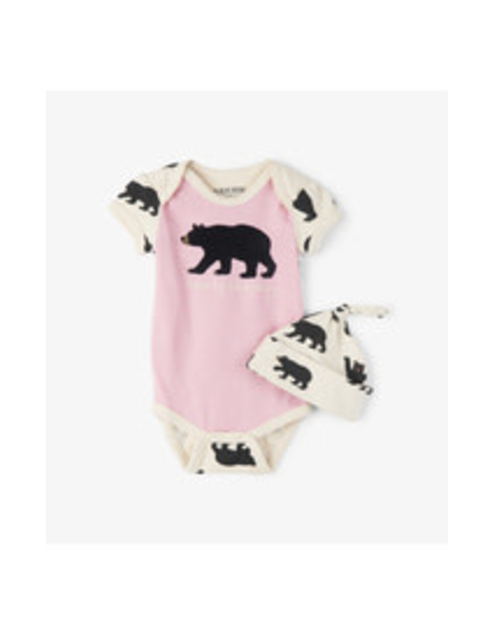 Little Blue House BEARLY SLEEPING BABY BODYSUIT AND HAT