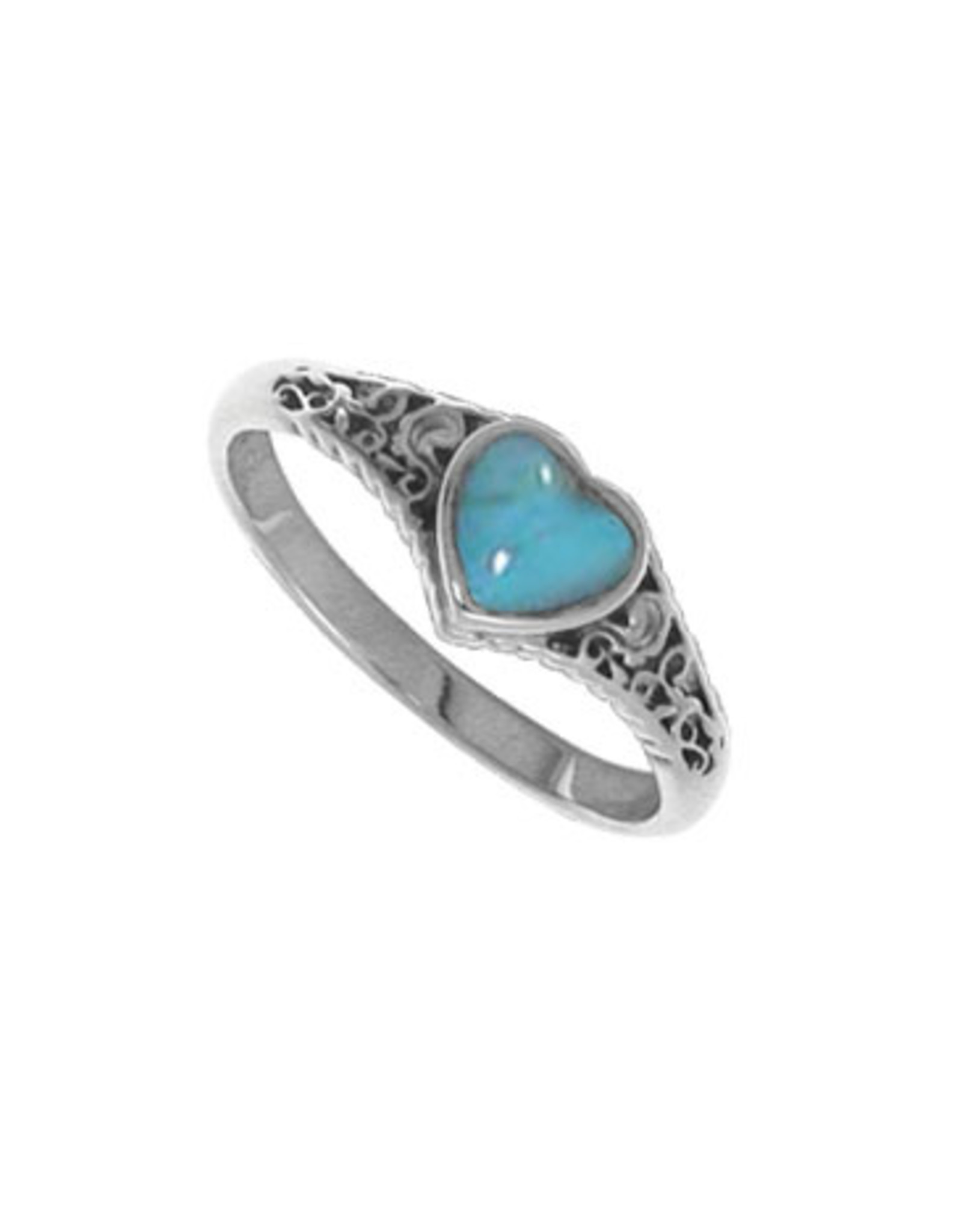 Boma HEART TURQUOISE  RING SILVER