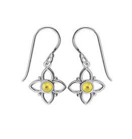Boma FLOWER YELLOW MOTHER OF PEARL DANGLE EARRING