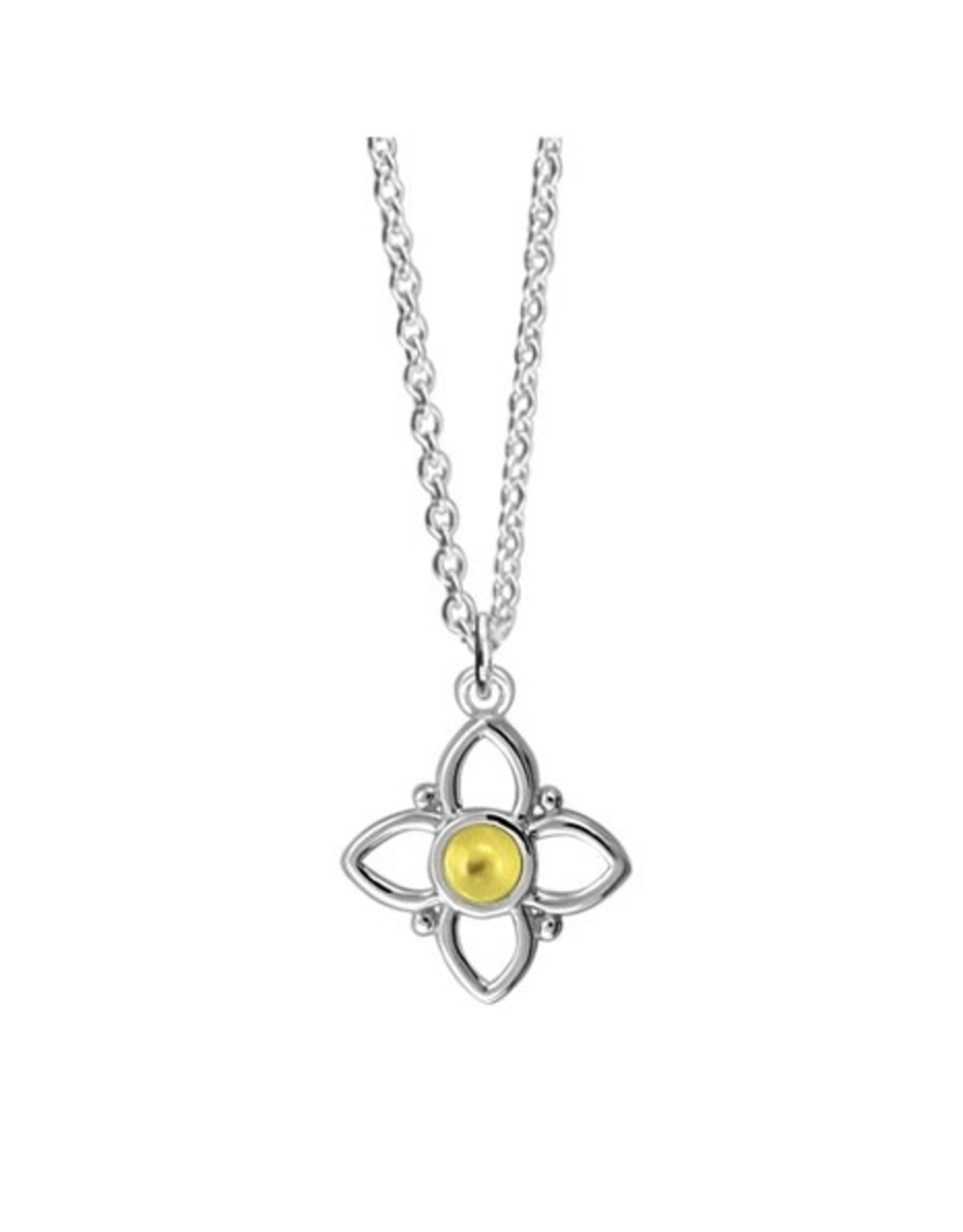 Boma FLOWER YELLOW MOTHER OF PEARL NECKLACE
