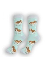 E and S CAVALIER KING CHARLES HAPPY TAILS SOCKS