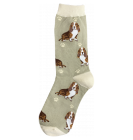 E and S BASSET HOUND HAPPY TAILS SOCKS