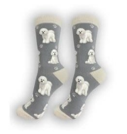E and S BICHON FRISE HAPPY TAILS SOCKS