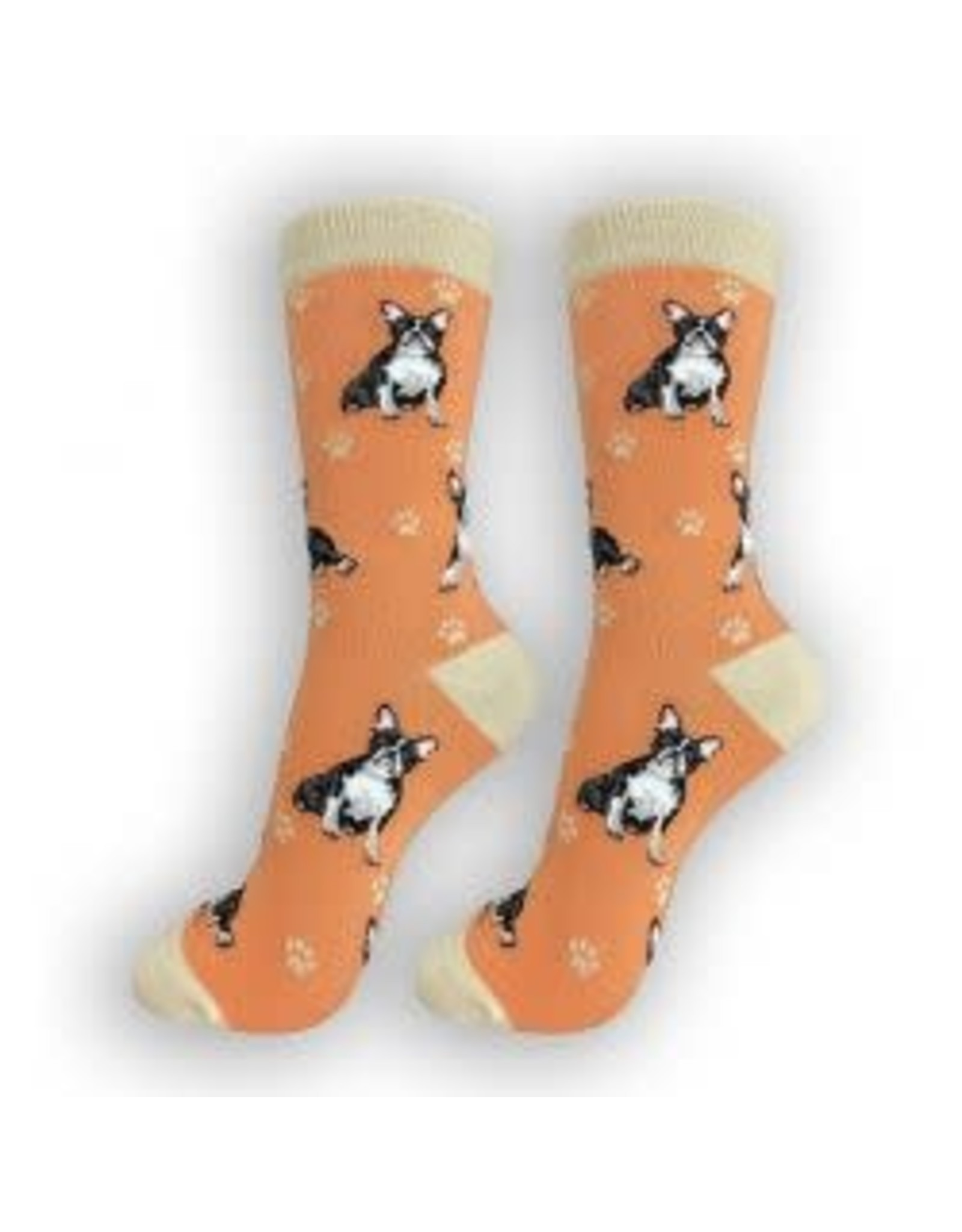 E and S BOSTON TERRIER HAPPY TAILS SOCKS