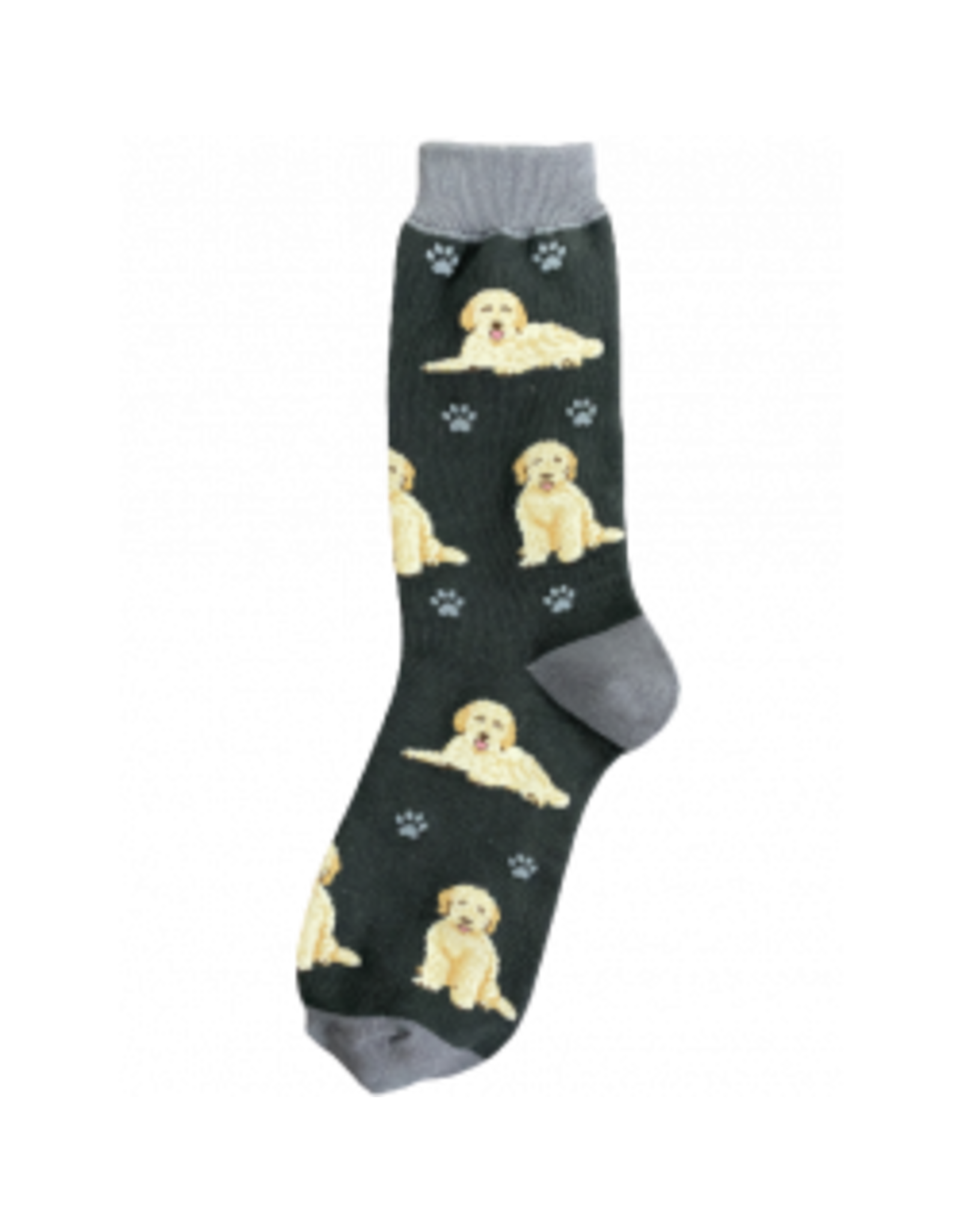 E and S GOLDENDOODLE GREY HAPPY TAILS SOCKS