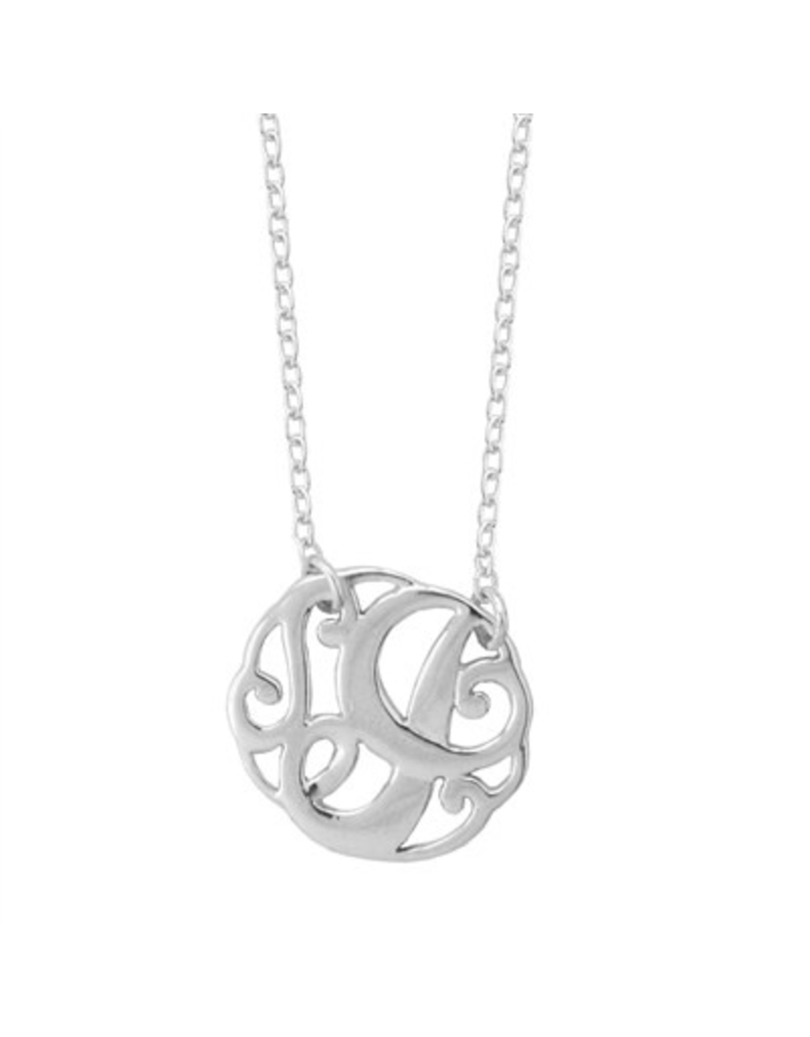 Chain and Hoop/Siloro MONOGRAM NECKLACE