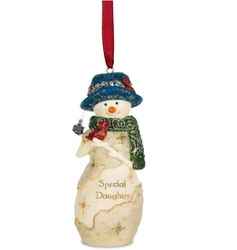 Pavilion Gift SPECIAL DAUGHTER SNOWMAN ORNAMENT