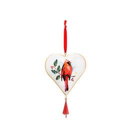 Demdaco CARDINAL HEART ORNAMENT