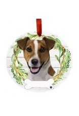 E and S JACK RUSSELL WREATH ORNAMENT