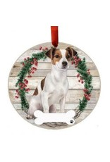 E and S JACK RUSSELL BODY WREATH ORNAMENT