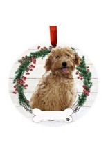 E and S GOLDENDOODLE, RUST WREATH ORNAMENT