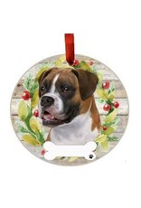 E and S BOXER UNCROPPED WREATH ORNAMENT