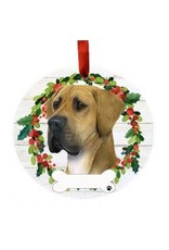 E and S GREAT DANE UNCROPPED WREATH ORNAMENT