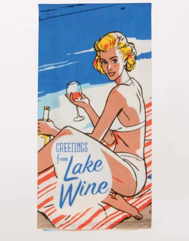 Lake Wine Towel
