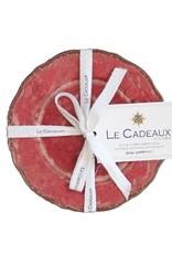 Le Cadeaux Antiqua Red Appetizer Plates in 4