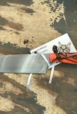 Ed Wilson Hand Forged Chef Knife - Orange Kirinite