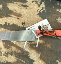 Ed Wilson Hand Forged Chef Knife - Orange Kirinite