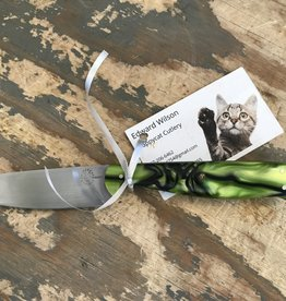 Ed Wilson Hand Forged Chef Knife - Green Kirinite