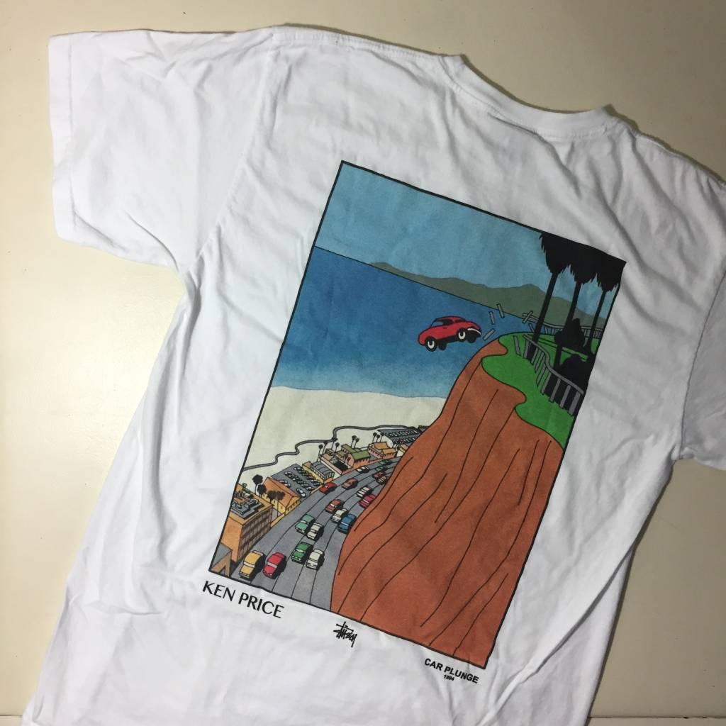 STUSSY Car Plunge Pocket T-Shirt White