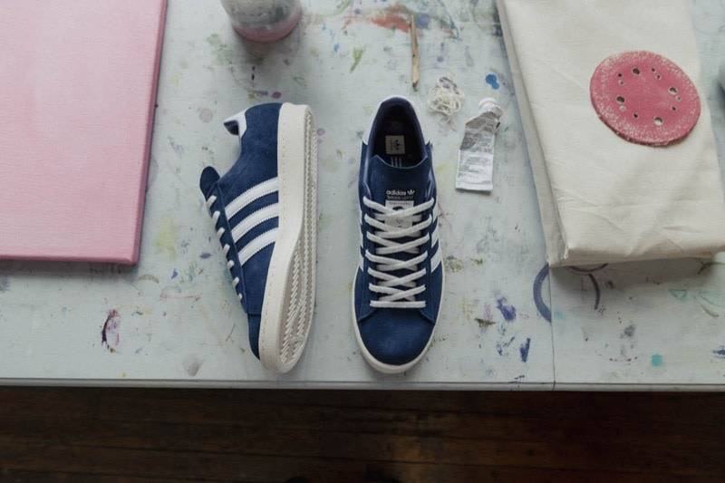ADIDAS FOOTWEAR Campus 80's Brian Lotti Shoe Blue White