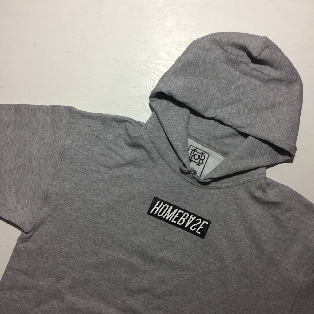 HOMEBASE SOFTGOODS Bar Logo Hoodie Grey/Black