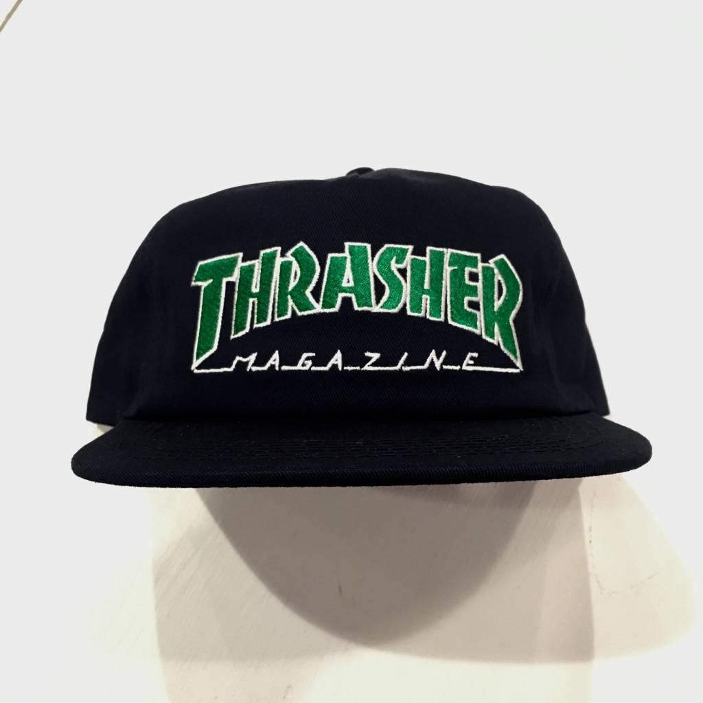 THRASHER MAGAZINE Thrasher Outline Snapback Hat Navy