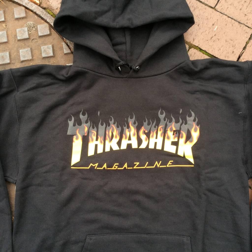 THRASHER MAGAZINE BBQ Mag Logo Pullover Hoody Black