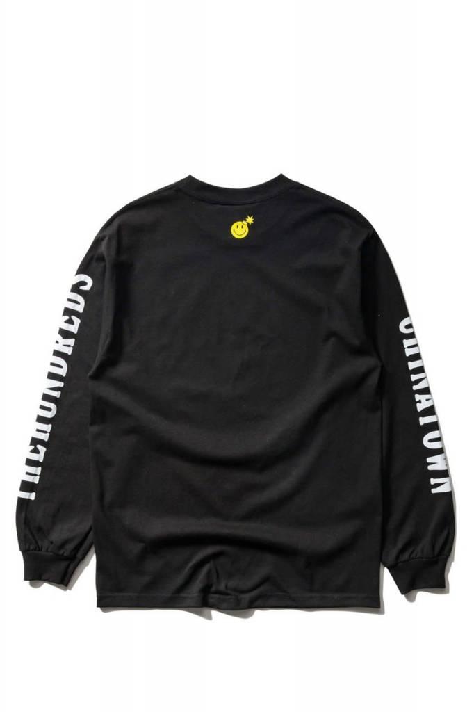THE HUNDREDS Smiley Adam LS T-shirt Black